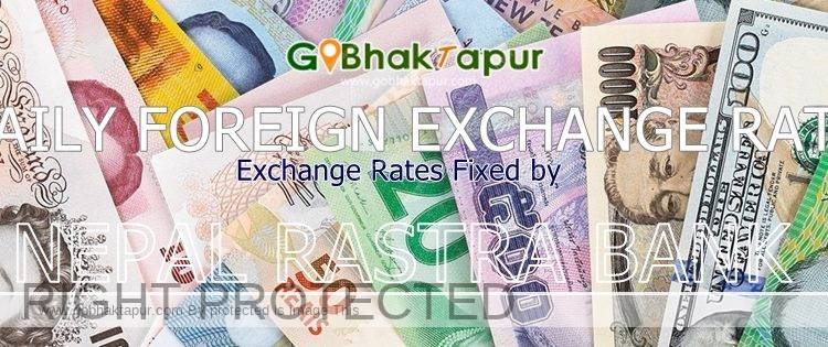 Foreign Currency Exchange Rate For November 15 2019